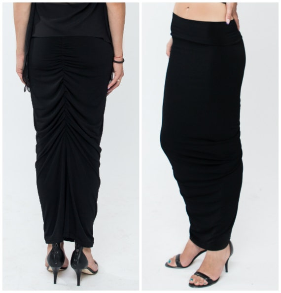 Maxi pencil skirt black – Modern skirts blog for you