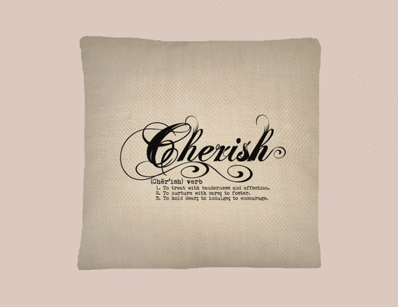 definition handmade cherish definition typography handmade 16x16 pillow cover 7823