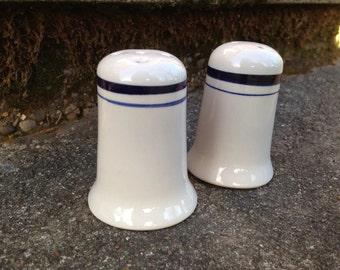 Crock Cobalt Blue Stoneware Salt and Pepper Shakers