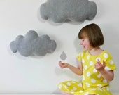 Large size light grey gray wall cloud wall hanging decor cloud pillow baby nursery kids room childrens home decor