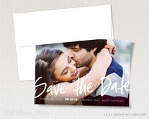 Lettered Wedding Save-the-Date Magnets - Modern Photo Save-the-Date Magnets - Photo Save the date Magnet