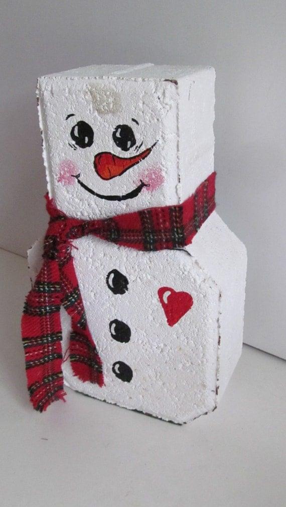 Snowman Door Stop Christmas Decorations Snowmen Christmas