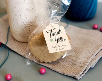 100- Personalized Wedding Favor Tags, Chic Wedding Tags,  Goodie Bag Tags, Wedding custom tags, Thank you Tag, Love is Sweet tag