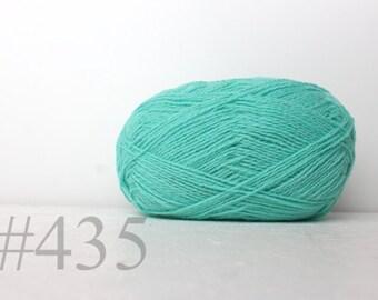 WOOL yarn 100%-knitting yarn - mint #435
