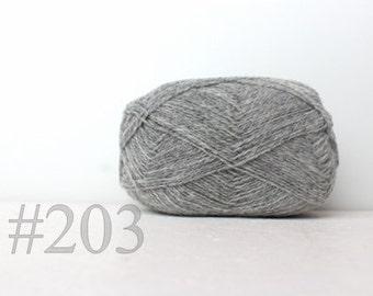 WOOL yarn 100%-knitting yarn - natural grey #203