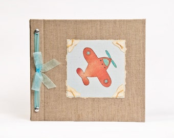 Baby Book - Baby Memory Book - Boy, Airplane, Baby Album - Airplane Baby Memory Book - Hugs and Kisses XO Baby Memory Book