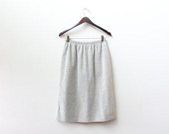 Minimal Texture Knit Pencil Skirt