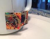 hand painted wearable art earrings