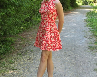 1960s Wilson Folmar Red Fit and Flare Mini Dress
