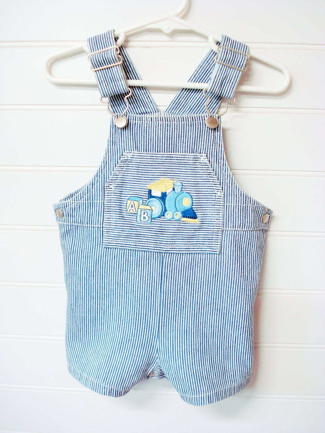 vintage baby clothes baby boy overall style romper blue and