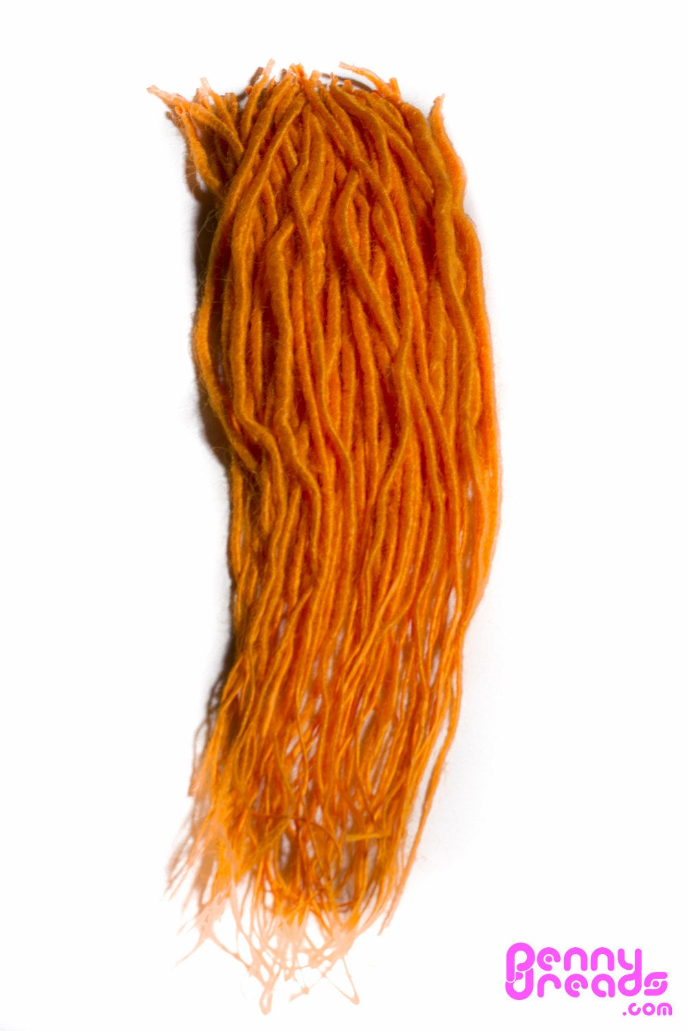 Orange Synthetic Dreadlock Extensions 10 Dreads By Pennywigs