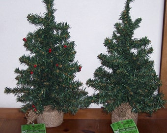 18 inch craft pine trees,plain or with red berries,Christmas crafting trees,rustic,country,table tree,holiday