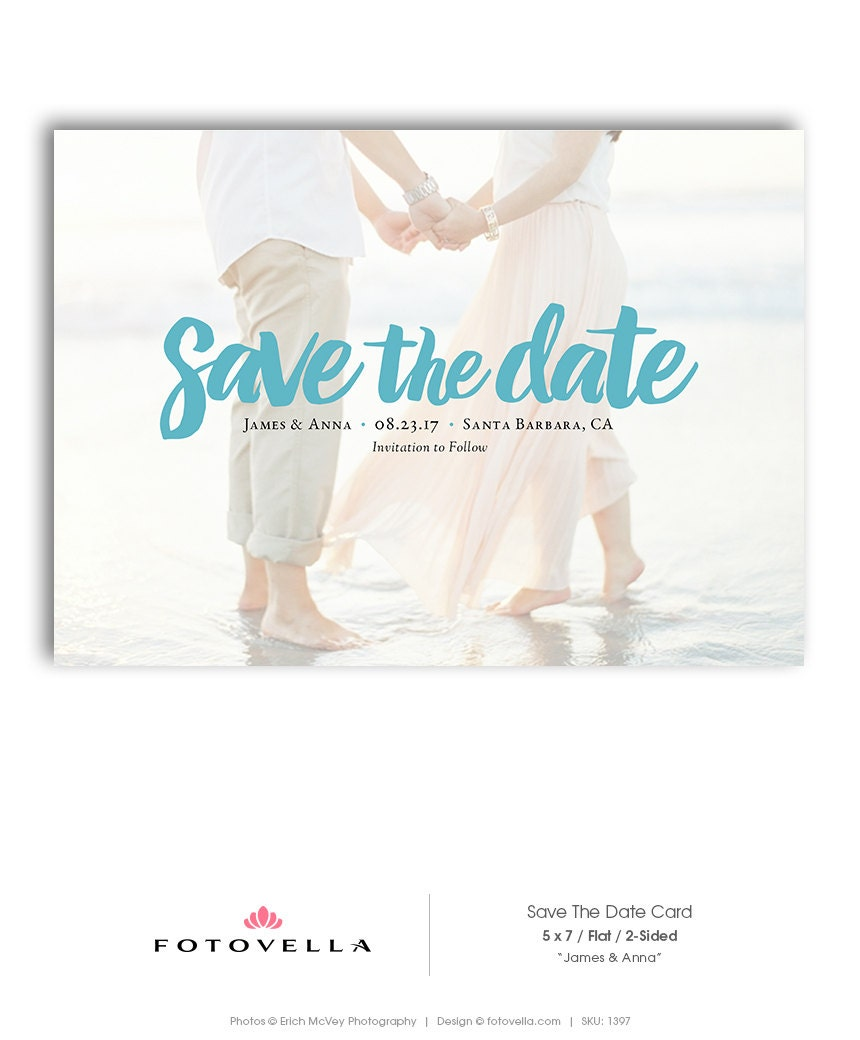 save the date template wedding announcement card photoshop. Black Bedroom Furniture Sets. Home Design Ideas