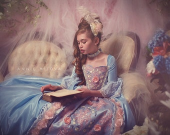 LIMITED EDITION Marie Antoinette Ball Gown Blue Flowers