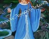 Lady of Avalon - Art print