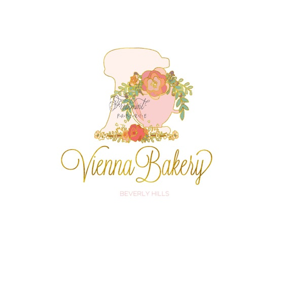 Bakery logo design calligraphy business