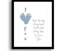 My Daddy or Grandpa\\\'s Hand Print First Father s Day Gift for