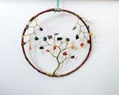 CHAKRA Suncatcher WIRE TREE of Life Hanging - Home Decor, Gifts, Yoga, Meditation, Spiritual, Housewarming