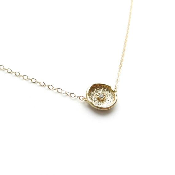 Delicate Gold Necklace, 14k Gold Filled Necklace, Gold Layer Necklace, Dainty Gold Necklace, Thin Gold Chain, Everyday Necklace, Simple Coin