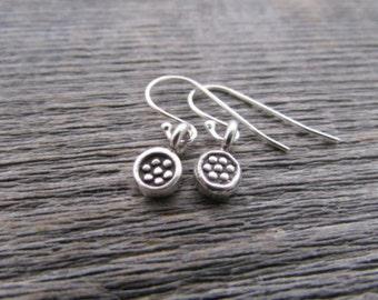 hill tribe silver flower earrings, hill tribe silver earrings, thai silver earrings, flower jewelry, earrings for women. earrings for teens