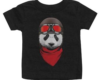 Vintage Motorcycle Panda Kid's T-Shirt