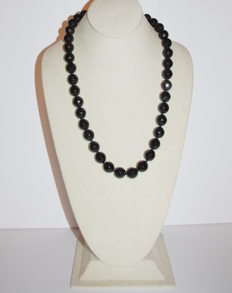 Joan rivers necklace black faceted beads 24 inches s1052 for Joan rivers jewelry necklaces