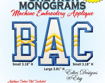 Chevron Monograms APPLIQUE Machine Embroidery Designs BX Format Monogram Fonts Digital Download