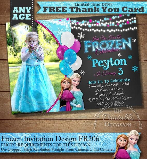 Frozen Birthday Invitation, Frozen Birthday Party, Frozen Invitation, Frozen Birthday Invitation, Digital Invitation, Frozen Chalkboard