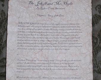 Dr. Jekyll and Mr. Hyde - Antiqued reproduction of first page