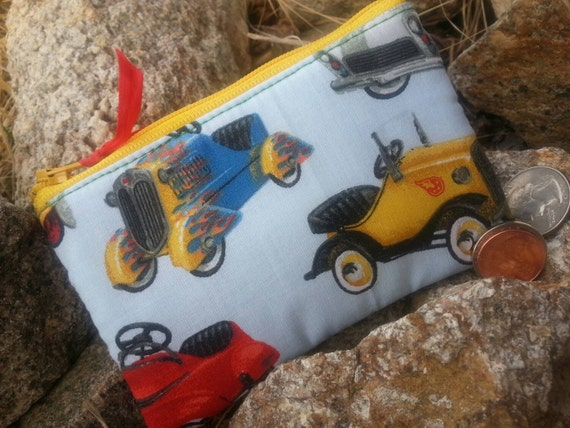 Toy Car Coin Purse, Boys Zipper Wallet
