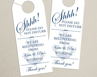 Set of 10 - Nautical Door Hanger for Wedding Hotel Welcome Bag