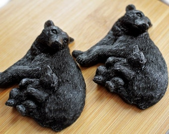 2 Bear and Cub Soaps - Animal Soap Gift Favors