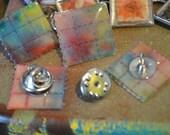 002: Acid-Free LSD Blotter Art Hat Pin | Fine Art