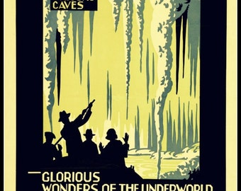 Art Print New Zealand Railways Hangatiki Waitomo 1927 - Print 8x10