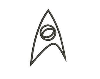 Applique Machine Embroidery Design Instant Download - Star Trek Original Series Science Insignia