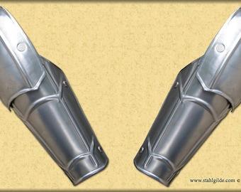 "Larp, fantasy, medieval, steel armor: arm bracers Arm Bracers ""Weg Des Schwertes"" Mod '08 (two units)"