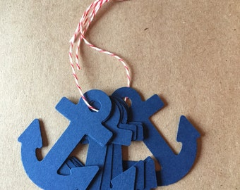 Anchor nautical gift tags/red and navy blue/nautical theme/Diy nautical and patriotic/Nautical baby shower