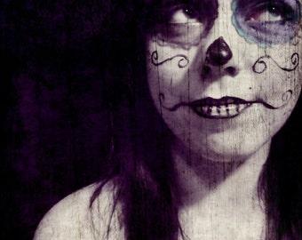 Sugar Skull Girl, 16x20 Art Photography, Limited Edition Print