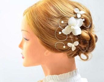 Bridal headpiece Bridal hair comb First Communion hair clip Hair jewlery Floral headpiece Bridesmaid headpiece Hair piece