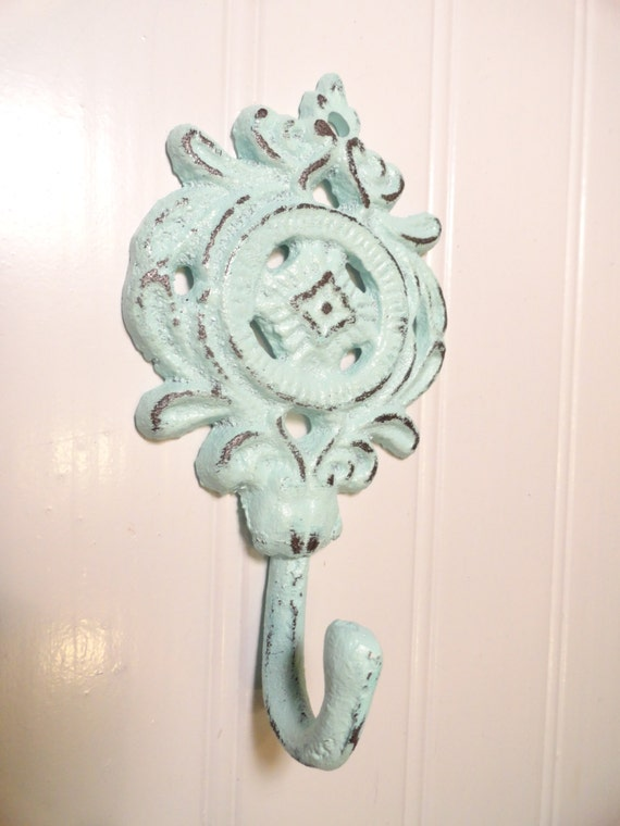 Small Key Wall Decor : Shabby chic hook decorative wall cottage style by