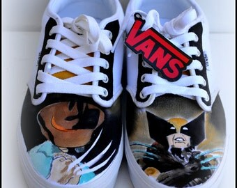 Mens Shoes, 100% Hand Painted, Mens Painted Vans or Converse, Mens Custom Shoes, Vans, Converse, Shoes, Gifts for Men, Fan Art, Fashion Art