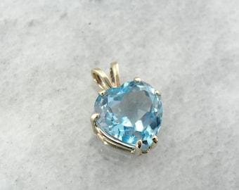 Something Blue, A Topaz Heart Shaped Pendant L5EKJ7-P