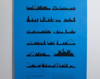 London Outline Set A - limited edition A1 (84x59cm) electrostatic print