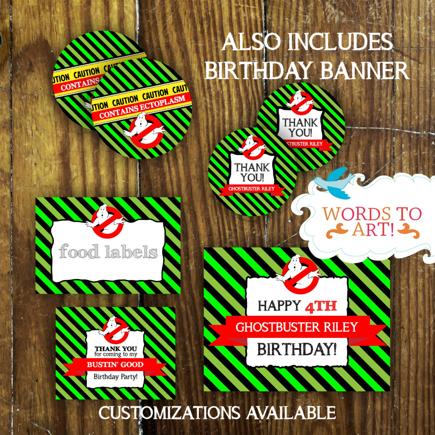CUSTOM Ghostbusters Birthday Party Theme PARTY PACKAGE