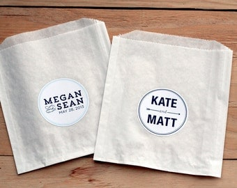 100 Custom Wedding Stickers / Favor Bags / Birthday Stickers / Paper Bags / Wedding Favor / Cookie Bags / Custom Stickers / Personalized
