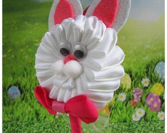 Bunny Headband. Easter Bunny. Kanzashi Headband