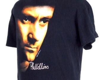 1990 Phil Collins But Seriously Vintage Concert T Shirt XL