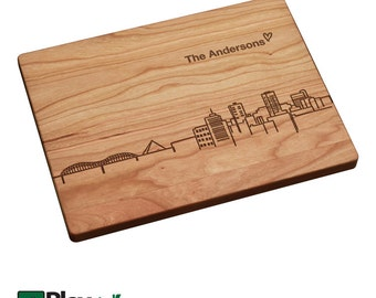 Memphis TN Skyline Personalized Engraved Cutting Board,Personalized Wedding Gifts,Custom Cutting Board,Wedding Gift,Christmas Gifts