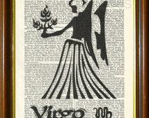 "VIRGO / Virgo Art, Virgo Print, Virgo Poster, Virgo Gift, Virgo Wall Art, Zodiac Art, Zodiac Print, Zodiac Poster, Zodiac Gift / 8.5""x11"""