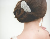 Austrian Crystal Hair Clip or Bracelet - Wedding Hair, Ribbon, Bridal, Rhinestone, Headband - Glam Hair Clip or Bracelet